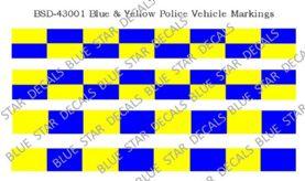 Blue & Yellow Police Vehicle Markings